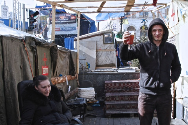 Some have already begun drinking in Kiev as polls open in Crimea for referendum vote on Russian sovereignty